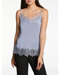 Modern Rarity Blue Silk Cami Top