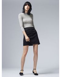 Warehouse Gray Pointelle Jumper