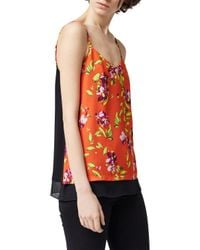 Warehouse Multicolor Climbing Azalea Print Cami