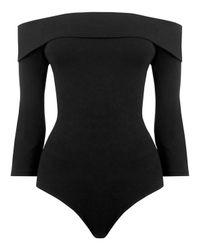 Warehouse Black Bardot Body