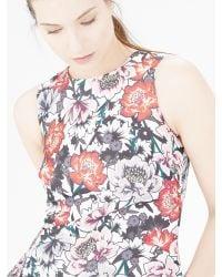 Warehouse Multicolor Floral Print Shift Dress