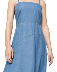 Warehouse Blue Denim Asymmetric Dress