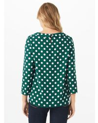 Phase Eight Green Marilyn Spot Blouse