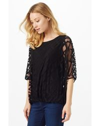 Phase Eight Gray Eve Geo Burnout Top