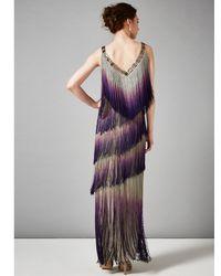 Phase Eight Multicolor Tina Fringe Dress