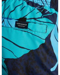Björn Borg Blue Leaf Swim Shorts for men