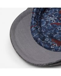 Ted Baker - Gray Textured Flat Cap for Men - Lyst