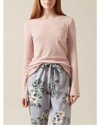 Hobbs | Pink Pointelle Pyjama Top | Lyst