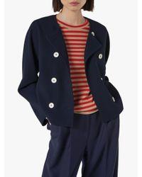 L.K.Bennett Blue Parker Jacket