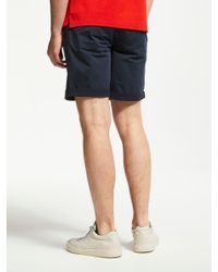 J.Lindeberg Blue Satin Slim Fit Shorts for men