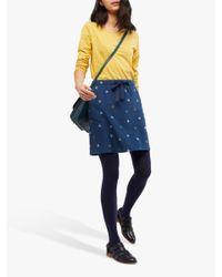 White Stuff Blue Chance Of Showers Skirt