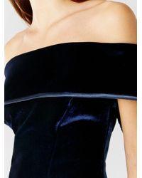 Coast Blue Cavalleri Bardot Velvet Dress
