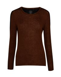 Marc Cain | Blue Two Tone Jumper | Lyst