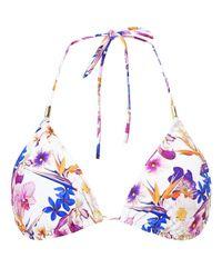 John Lewis Multicolor Tropic Paradise Triangle Bikini Top