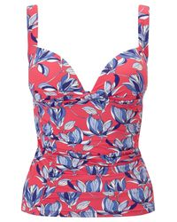 Joules Pink Roma Floral Print Tankini Top
