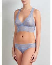 Somerset by Alice Temperley Blue Coco Lace Brazilian Briefs