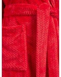 John Lewis - Red Shawl Collar Waffle Robe - Lyst