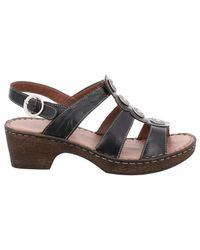 Josef Seibel Black Rebecca 55 Slingback Sandals