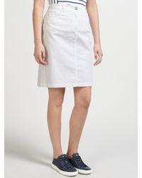 Gerry Weber White Straight Denim Skirt