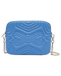 Ted Baker Blue Quilted Camera Bag
