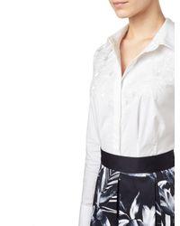 Precis Petite White Katy Embroidered Shirt