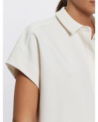 Jaeger White Side Seam Detail Shirt