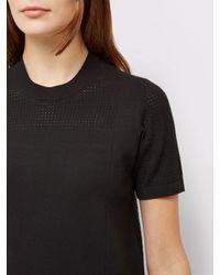 Jaeger Black Knit Textured T-shirt