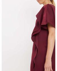 Jaeger - Multicolor Cascade Drape Dress - Lyst