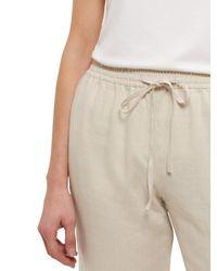 Jaeger White Linen Drawstring Trousers