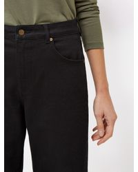 Jaeger Black High Rise Wide Leg Cropped Jeans