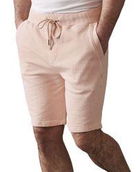 Reiss Pink Joey Jersey Shorts for men