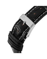 Alpina Black Al-525gb4s6 Men's Startimer Pilot Automatic Sunstar Leather Strap Watch for men