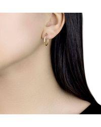 Ib&b - Metallic 9ct Gold Plain Hoop Earrings - Lyst