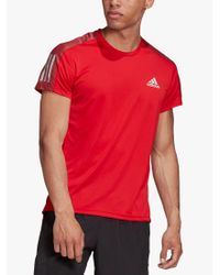 Adidas Red Own The Run Short Sleeve Running Top for men