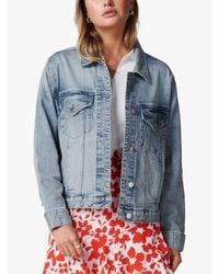 Forever New Blue Hanna Denim Jacket