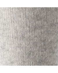 John Lewis - Gray Cashmere Rich Knee Socks - Lyst