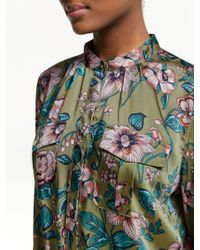 Ralph Lauren Green Lauren Joruby Long Sleeve Floral Dress