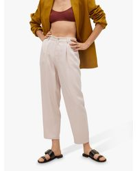 Mango Multicolor Lyocell Cropped Trousers
