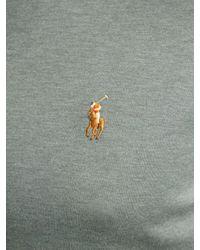 Ralph Lauren Gray Polo Long Sleeve Polo Shirt for men