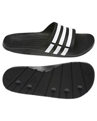 Adidas Black 's Duramo Slide Beach And Pool Shoes for men