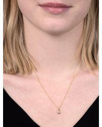 John Lewis - Pink Ewa 9ct Yellow Gold Diamond Teardrop Pendant Necklace - Lyst