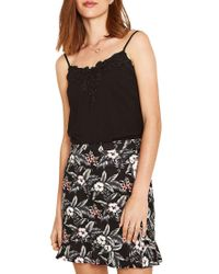 Oasis - Black Lace Trimmed Camisole - Lyst