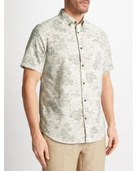 John Lewis Multicolor Hawaiian Print Short Sleeve Shirt for men