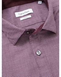 Calvin Klein Blue Puppytooth Slim Fit Shirt for men