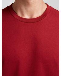 John Lewis Red Jersey Cotton Crew Neck T-shirt for men