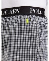 Ralph Lauren Black Polo Sutton Woven Cotton Check Lounge Pants for men