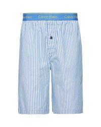 Calvin Klein Blue Dunmore Stripe Lounge Shorts for men
