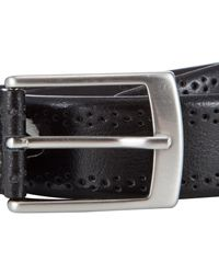 John Lewis - Black Made In Italy Brogue Belt for Men - Lyst