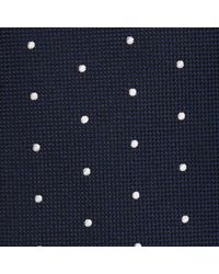 John Lewis Blue Made In Italy Wool Spot Tie for men