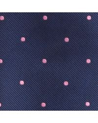 Hackett - Blue Mid Dot Silk Tie for Men - Lyst